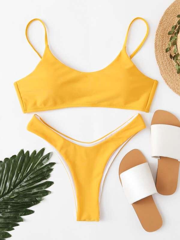 75f2038d31b High Leg Bikini Set   SHEIN