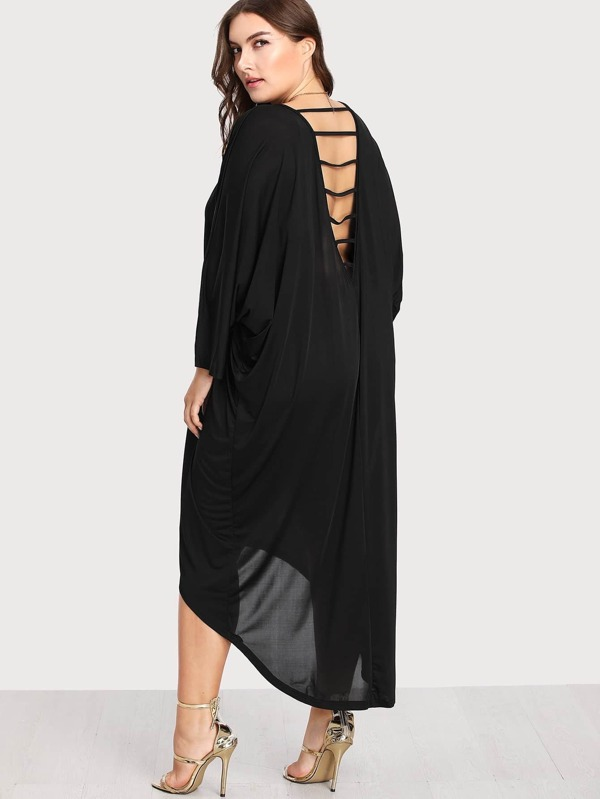 calidad y cantidad asegurada gran venta Buenos precios Vestido largo asimétrico con espalda descubierta