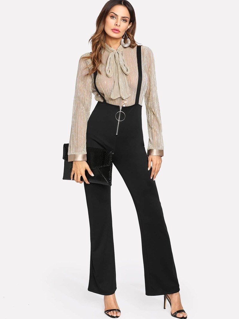 a6add182422 O-Ring Zip Front Overalls