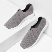 - Suede Low Top Slip On Sneakers