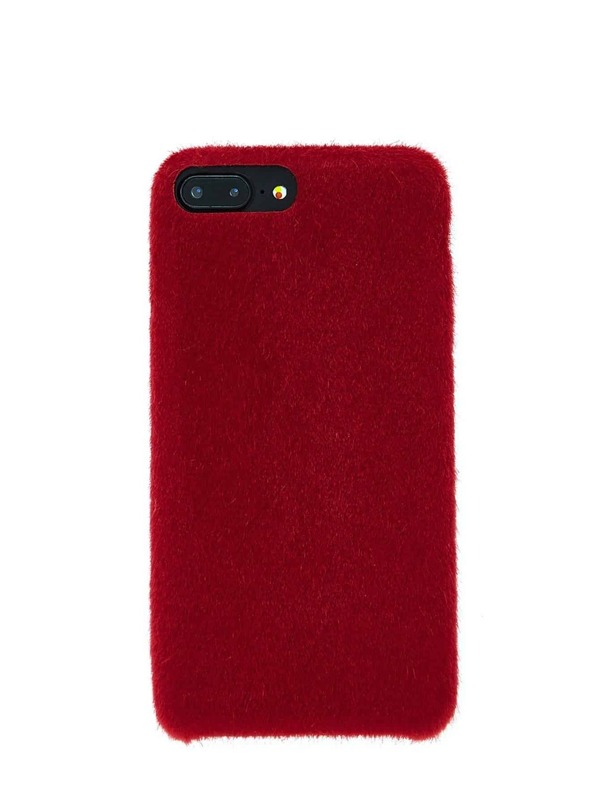 3972b412de Faux Fur Overlay iPhone Case | SHEIN