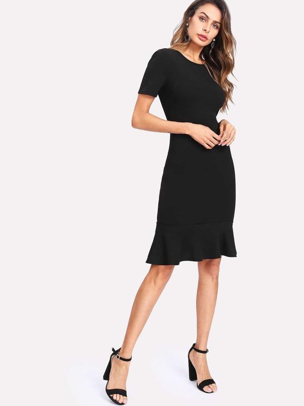 Kleid mit Raffung - German SheIn(Sheinside)