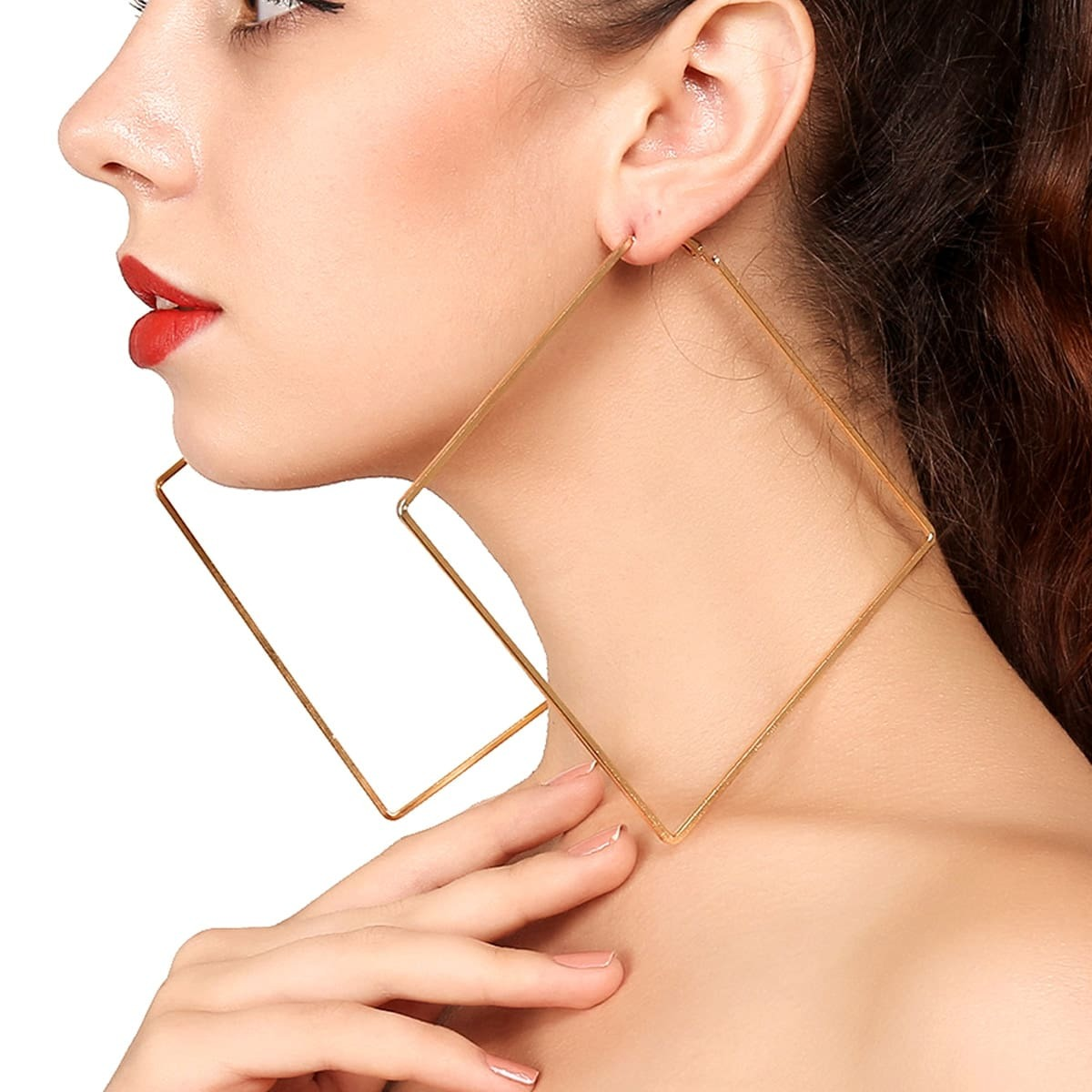 - Geometric Hoop Earrings