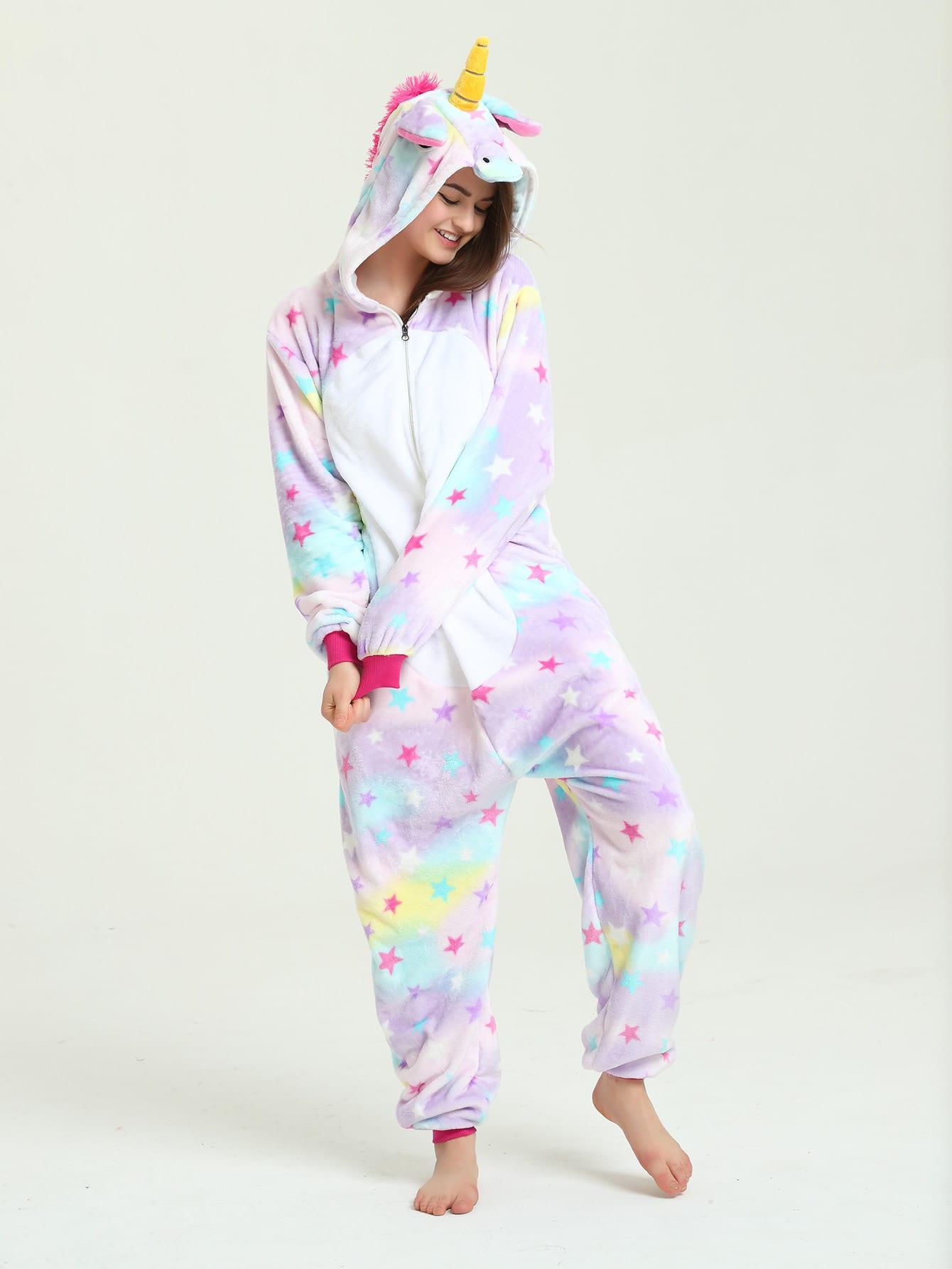 Star Print Unicorn Onesie EmmaCloth-Women Fast Fashion Online