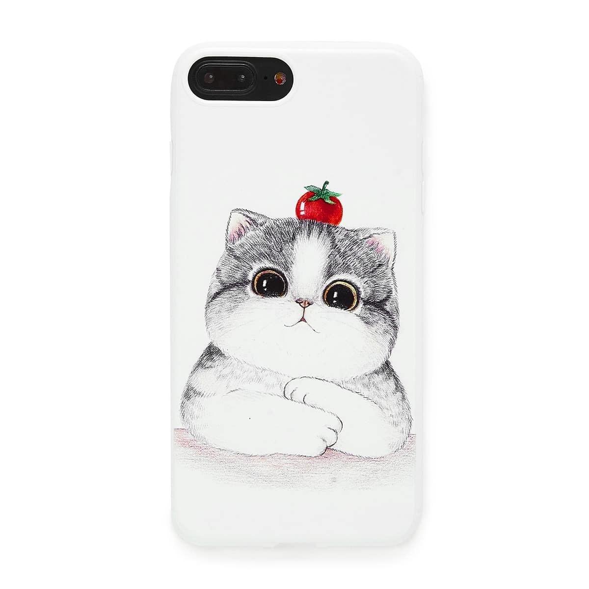 IPhone Schutzhülle mit Aufdruck - Katze