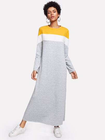 Cut And Sew Sweatshirt Dress