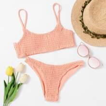 Ruched Cami Bikini Set swimwear171212311