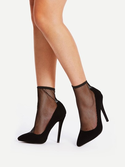 Fishnet Insert 2 In 1 Stiletto Heels