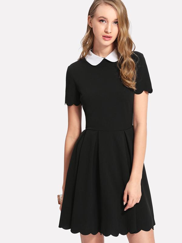 3ddf2429455 Cheap Peter Pan Collar Scalloped Edge Flare Dress for sale Australia ...