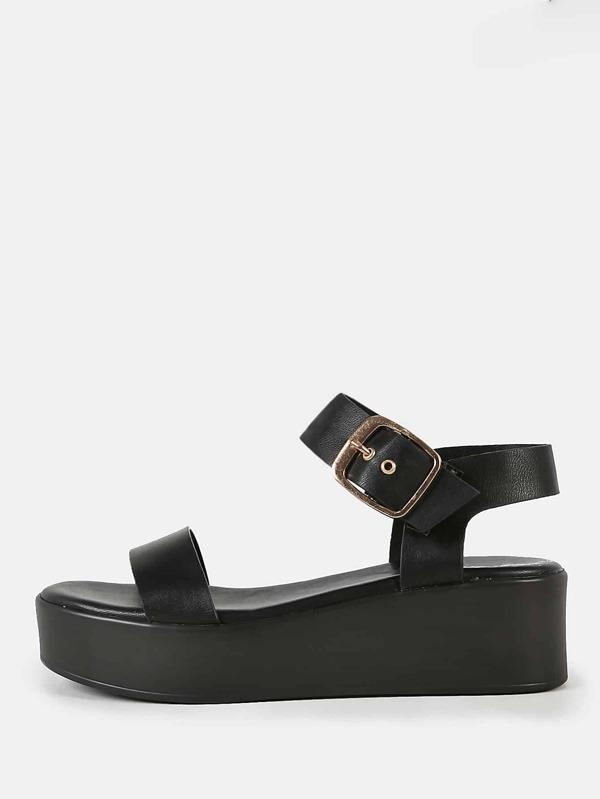 4633e6f88 Cheap Platform Sandals BLACK for sale Australia | SHEIN