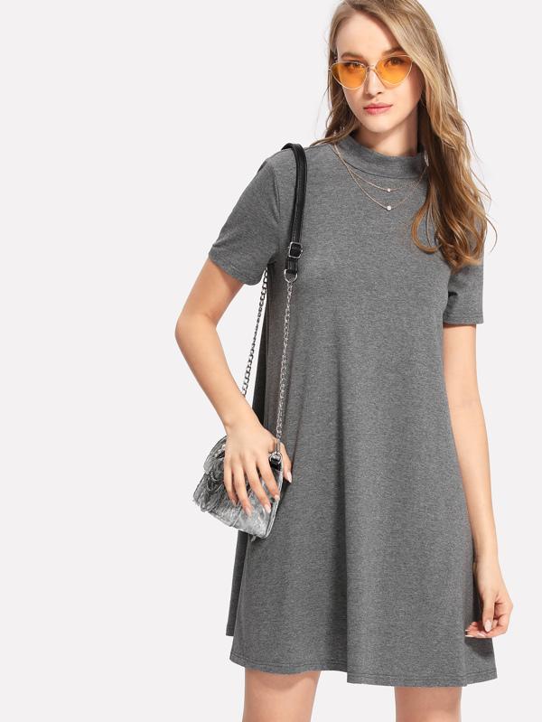 4209f920b1 Heather Knit Swing Dress | SHEIN