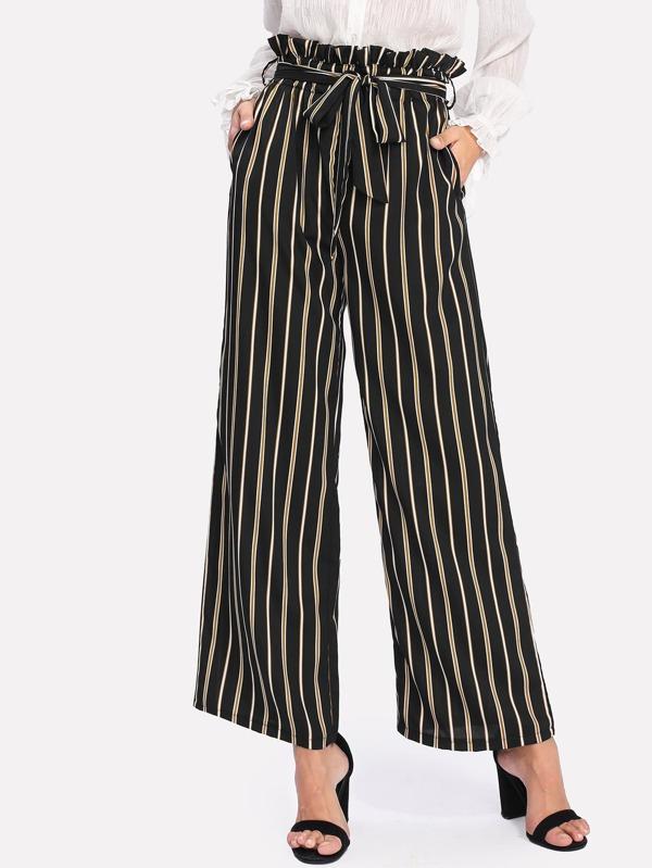 debb017df9992 Cheap Vertical Striped Self Tie Wide Leg Pants for sale Australia ...
