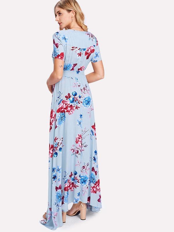 Kurzkleid mit Knöpfen und grafischem Muster Blune SIlULya