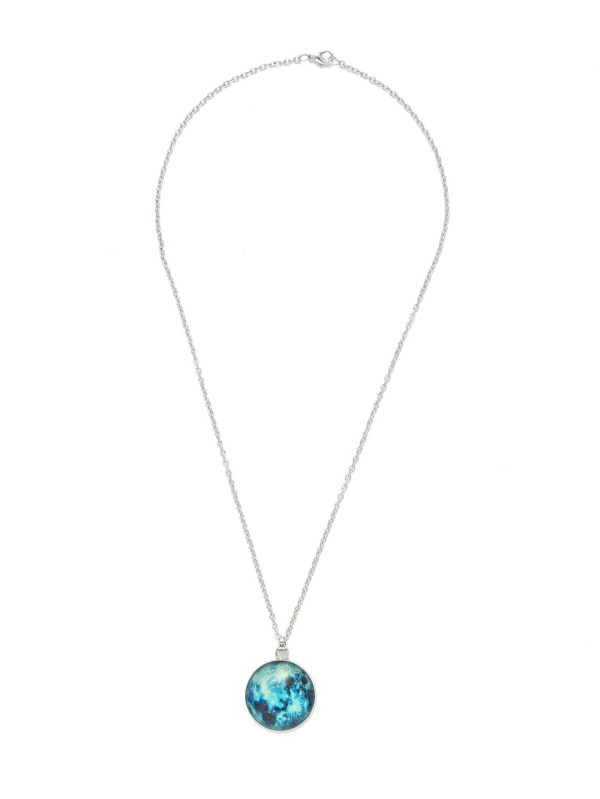 83f87540afdd47 Luminous Round Pendant Link Necklace | SHEIN IN
