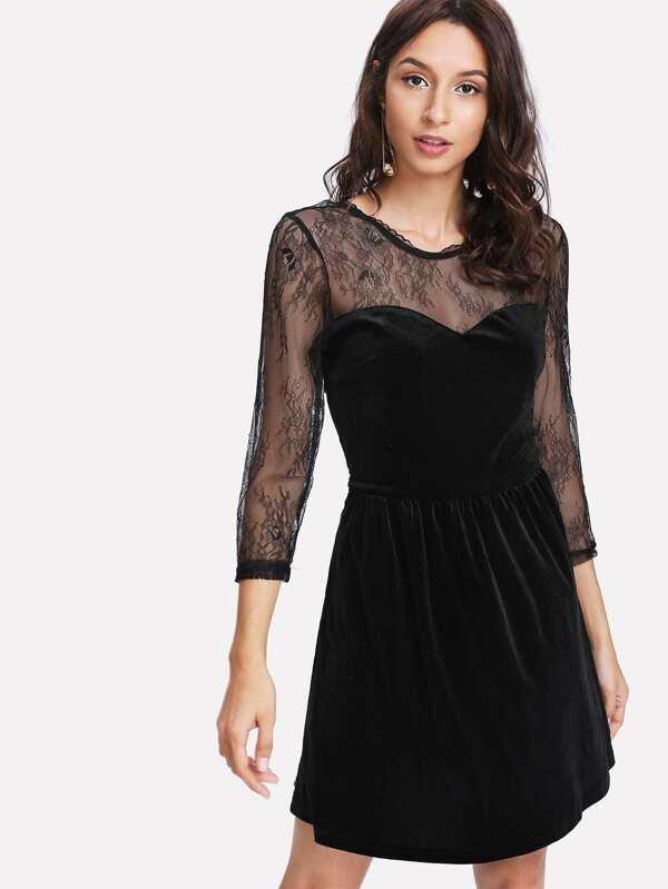 f690d793a فستان ناعم مع ربطة الورود   شي إن