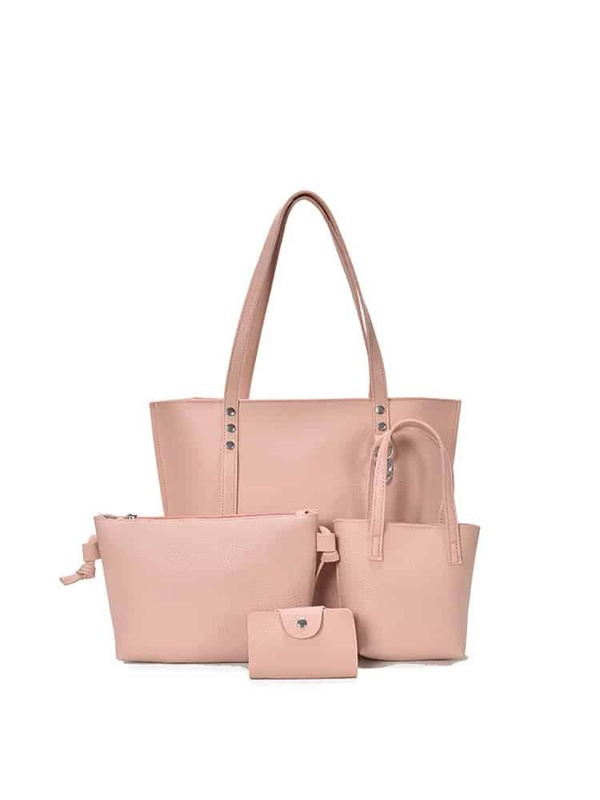 8d086e9f47 Faux Leather Combination Bag 4pcs | SHEIN IN
