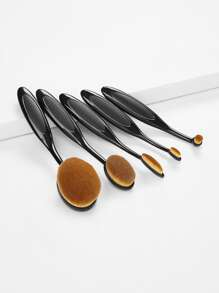 Black 5PCS Oval Makeup Brush Set