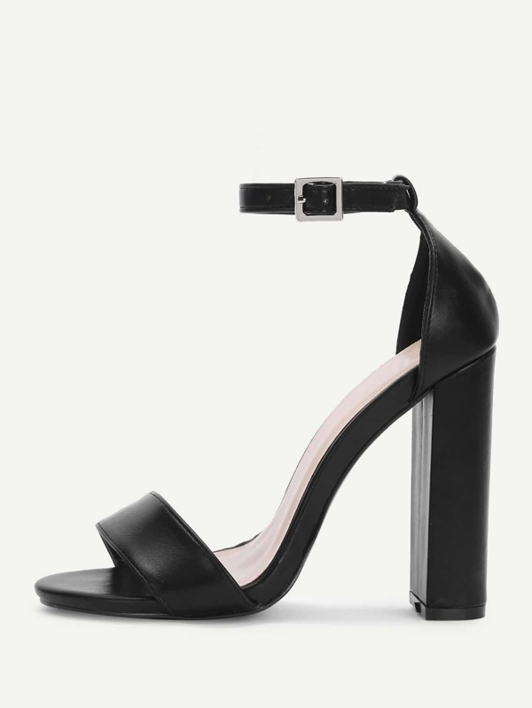 acc5d37919a3 Two Part Block Heeled Ankle Strap Sandals