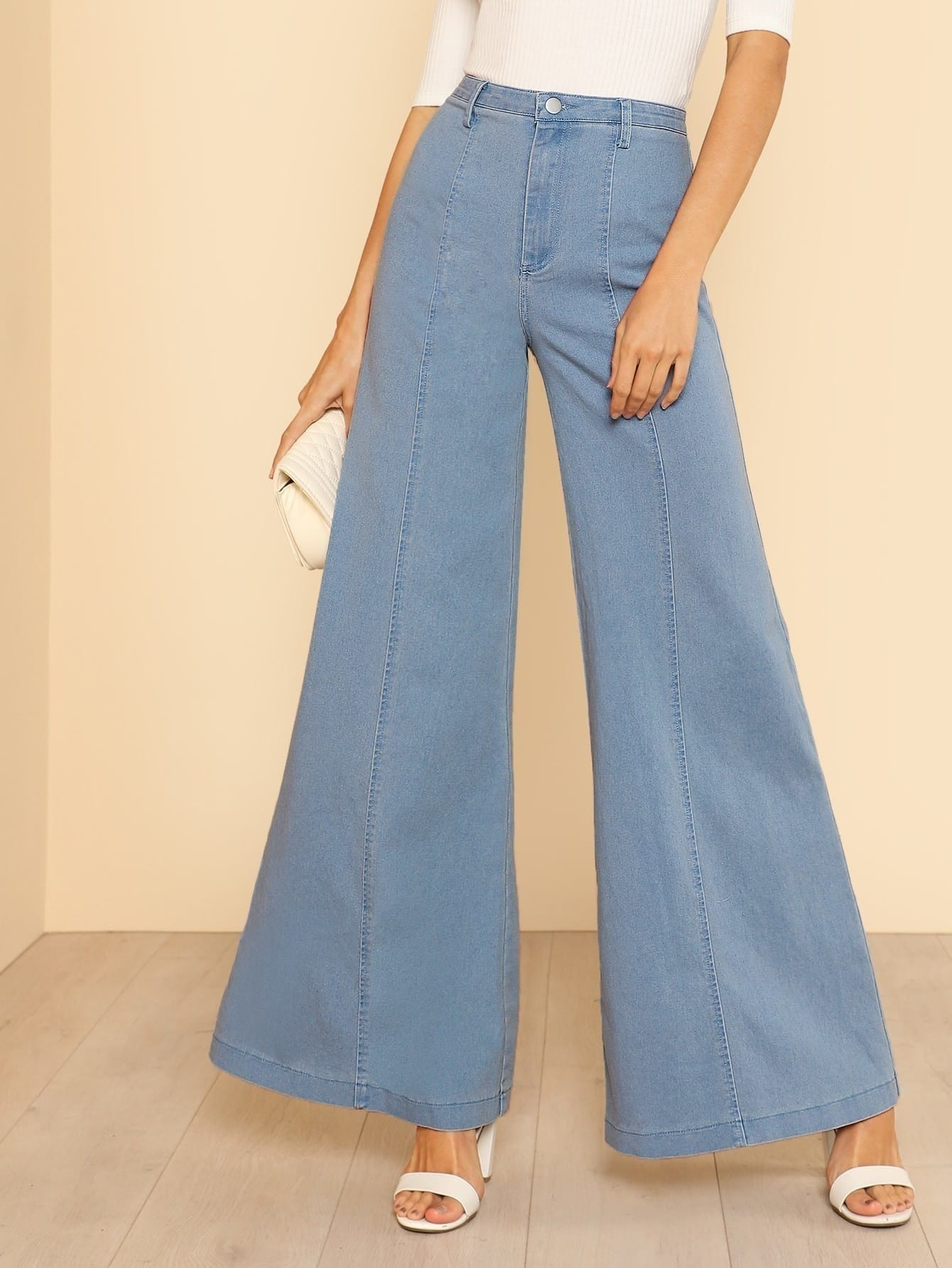 d56e15a98 High Waist Bell Bottom Jeans | SHEIN IN