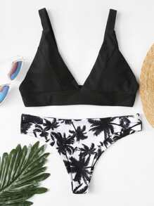 Jungle Print Bikini Set