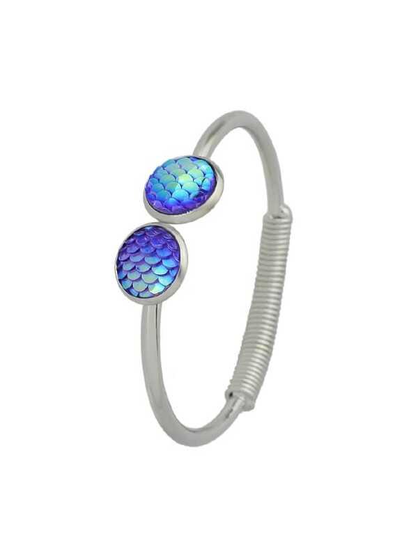 d131744a08 Blue Mermaid Scales Love Bracelets | SHEIN IN