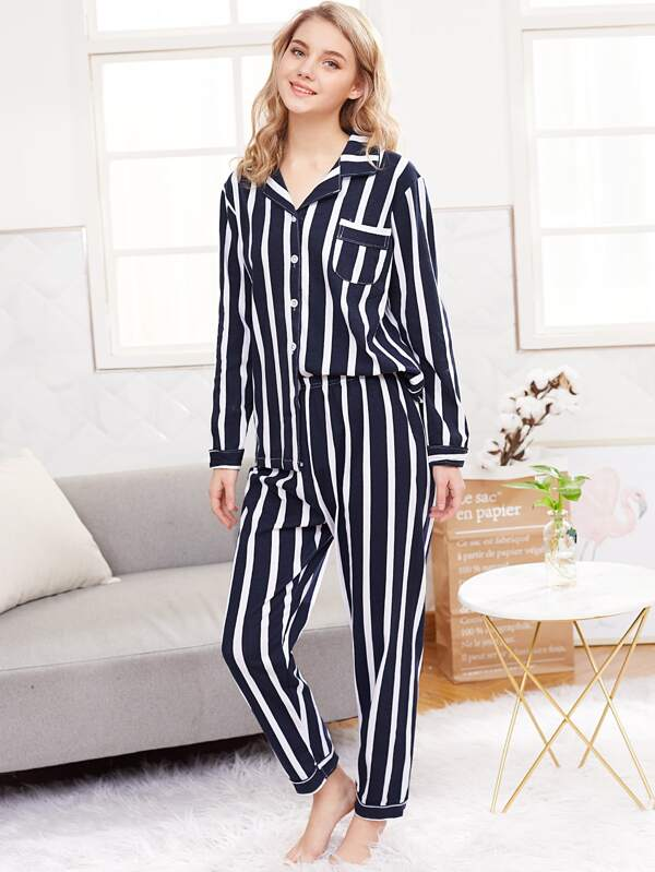 7e9a5242b Cheap Stripe Shirt   Long Pyjama Set for sale Australia
