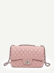 Quilted Detail Chain Bag