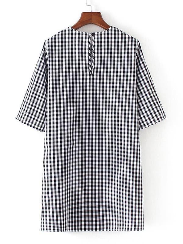 8f8f5bc61c3 Side Tie Gingham Dress