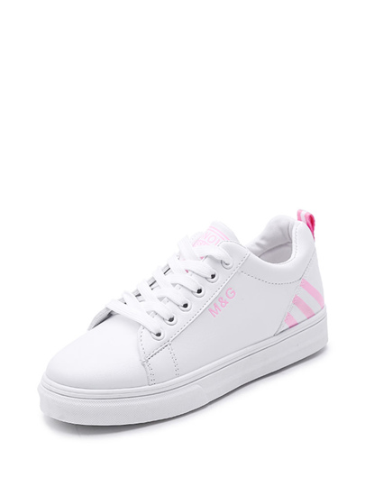 Laser Cutting Detail Contrast Lace Up Trainers o9vwiz QY