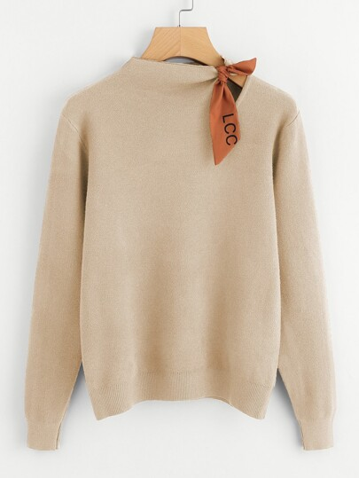 Knotted Detail Jersey Sweater