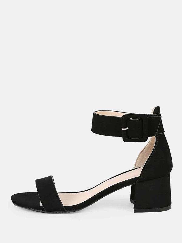 44d423bd8b2 Cheap Thick Ankle Strap One Band Chunky Low Heels BLACK for sale Australia