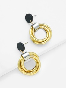 Wrap Ring Design Drop Earrings