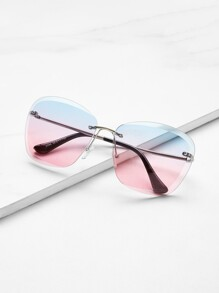 Rimless Tinted Lens Sunglasses