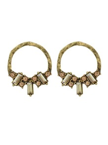 At-Gold Vintage Circle Earrings