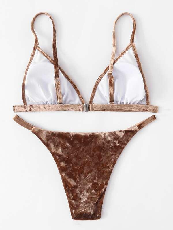 c810f8bdc2 Velvet Bikini Set | SHEIN
