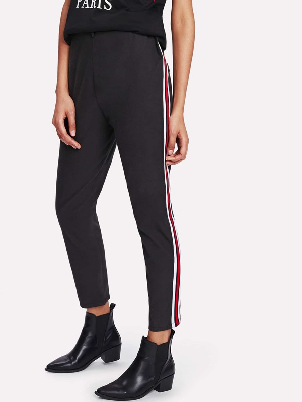 0c59ce1b30 Stripe Tape Side Pants   SHEIN UK