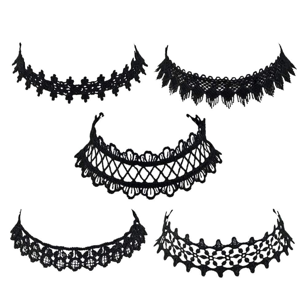 - European Lace Choker Necklace Set
