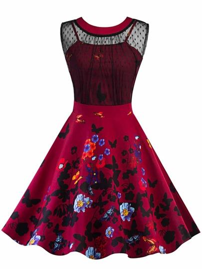 Robe de soirРіВ©e courte rouge et noir
