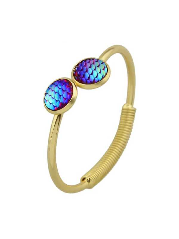 6d3a4e1cb3 Blue Mermaid Scales Love Bracelets | SHEIN