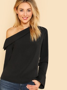 Asymmetric Collared Neck Blouse