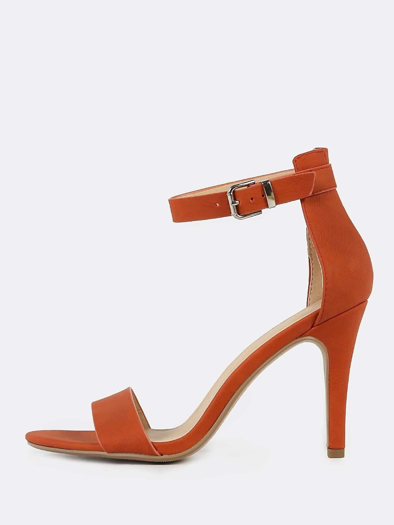 F & F Suede Anklestrap Stilettos in Burnt Orange Size 6