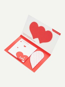 Heart & Square Sticky Note Pad Set