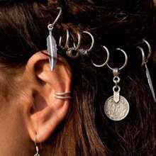Charm Detail Hair Rings 8pcs