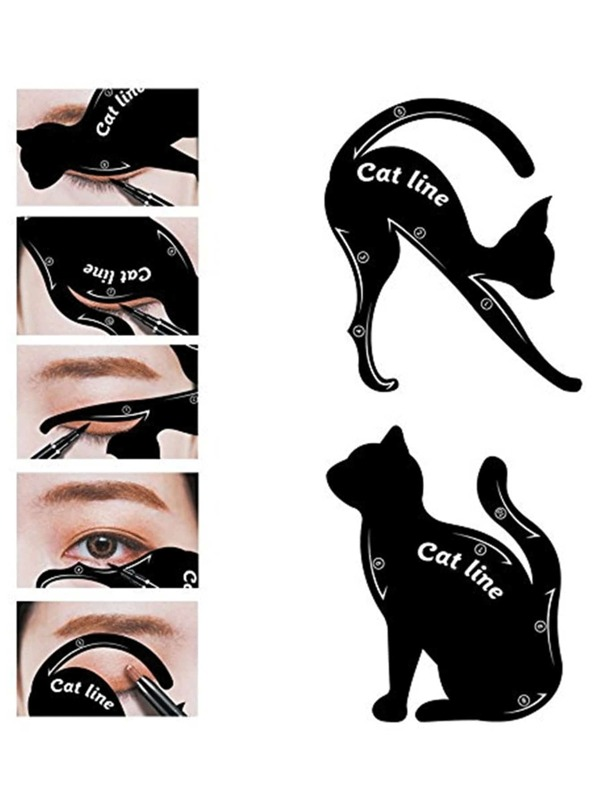 image relating to Eyeliner Stencil Printable named Cat Eyeliner Stencil
