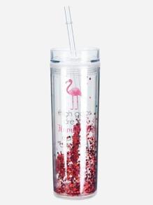 Glitter Straw Tumbler Cup