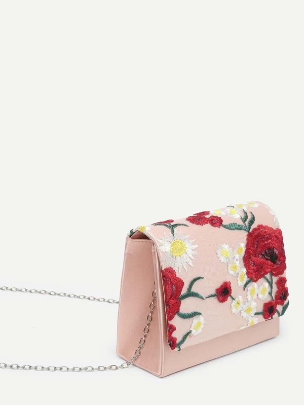 410e19bb9601 Модный клатч с вышивкой   SHEIN