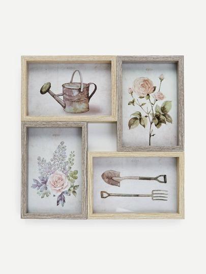 Wood Collage Frame 4pcs -SheIn(Sheinside)