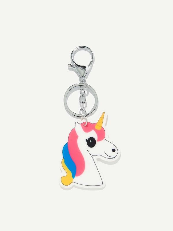 5ef57d3b45 Unicorn Shaped Keychain | SHEIN