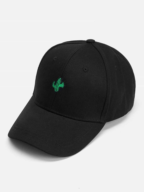 Cactus Embroidered Baseball Cap -SHEIN(SHEINSIDE) ff83441e99b