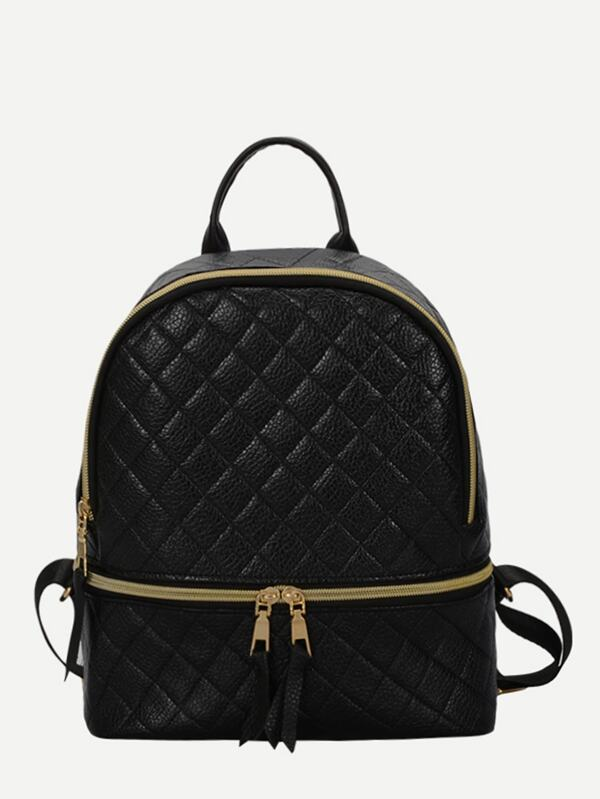 961472bd9ef9 Double Zipper Front Backpack